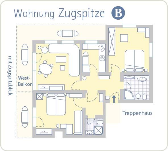 Grundriss Zugspitze B